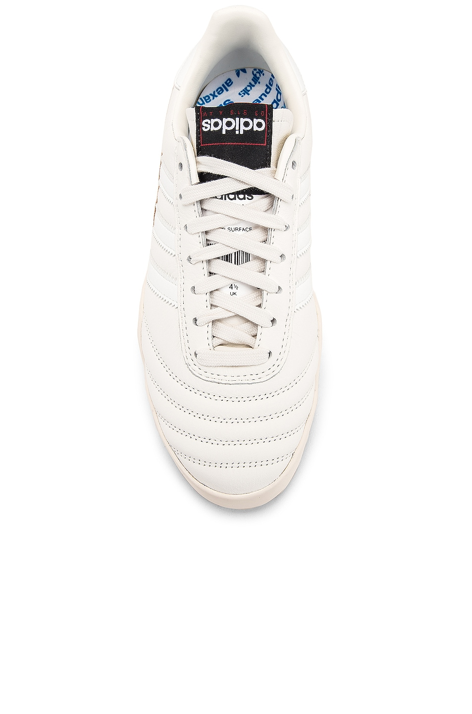 Image 4 of adidas by Alexander Wang Soccer Ball Sneaker in Core White & Chalk Pearl