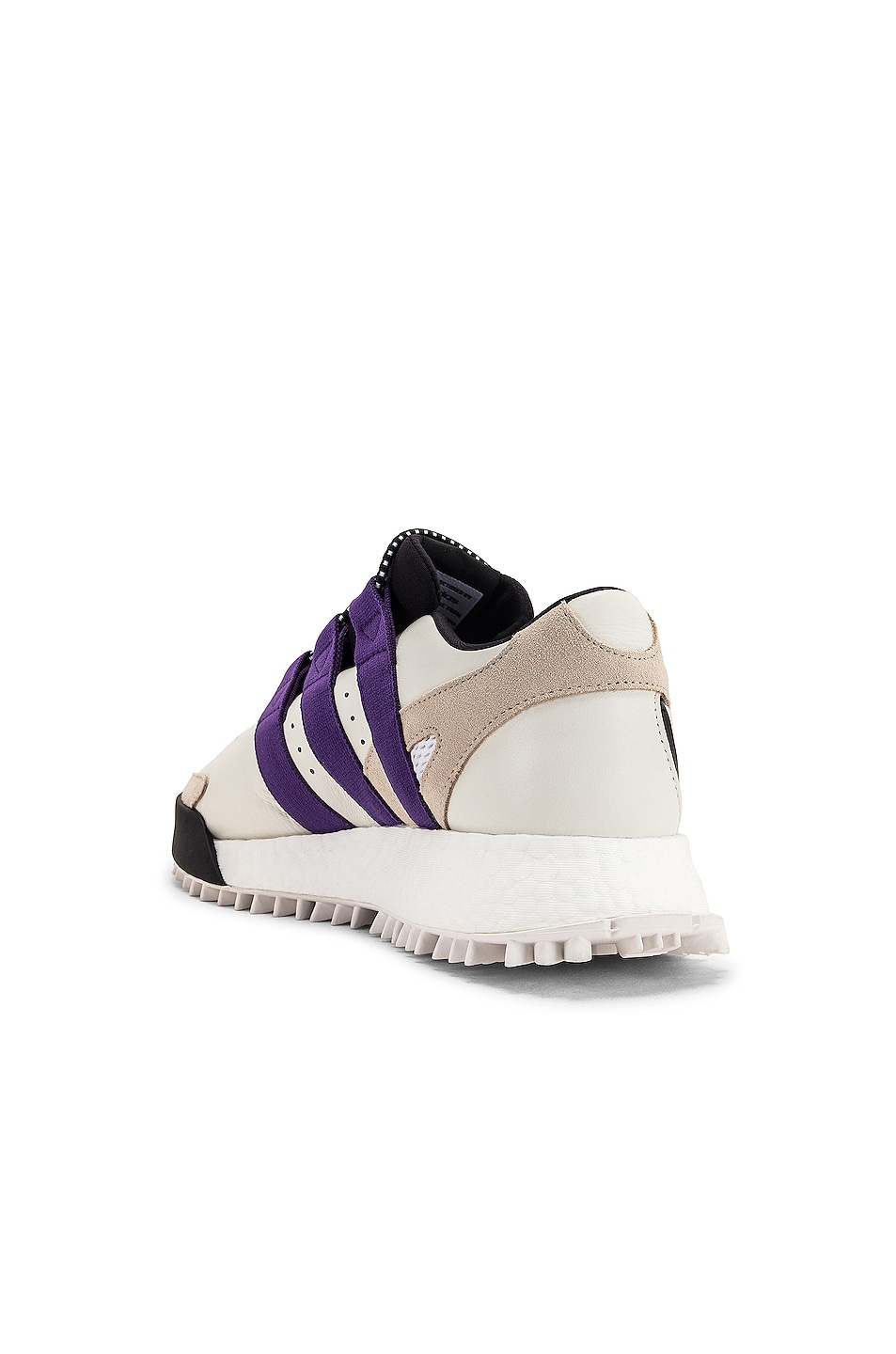 Image 3 of adidas by Alexander Wang Wangbody Run Sneaker in Core White, Sharp Purple F11 & Clear Brown
