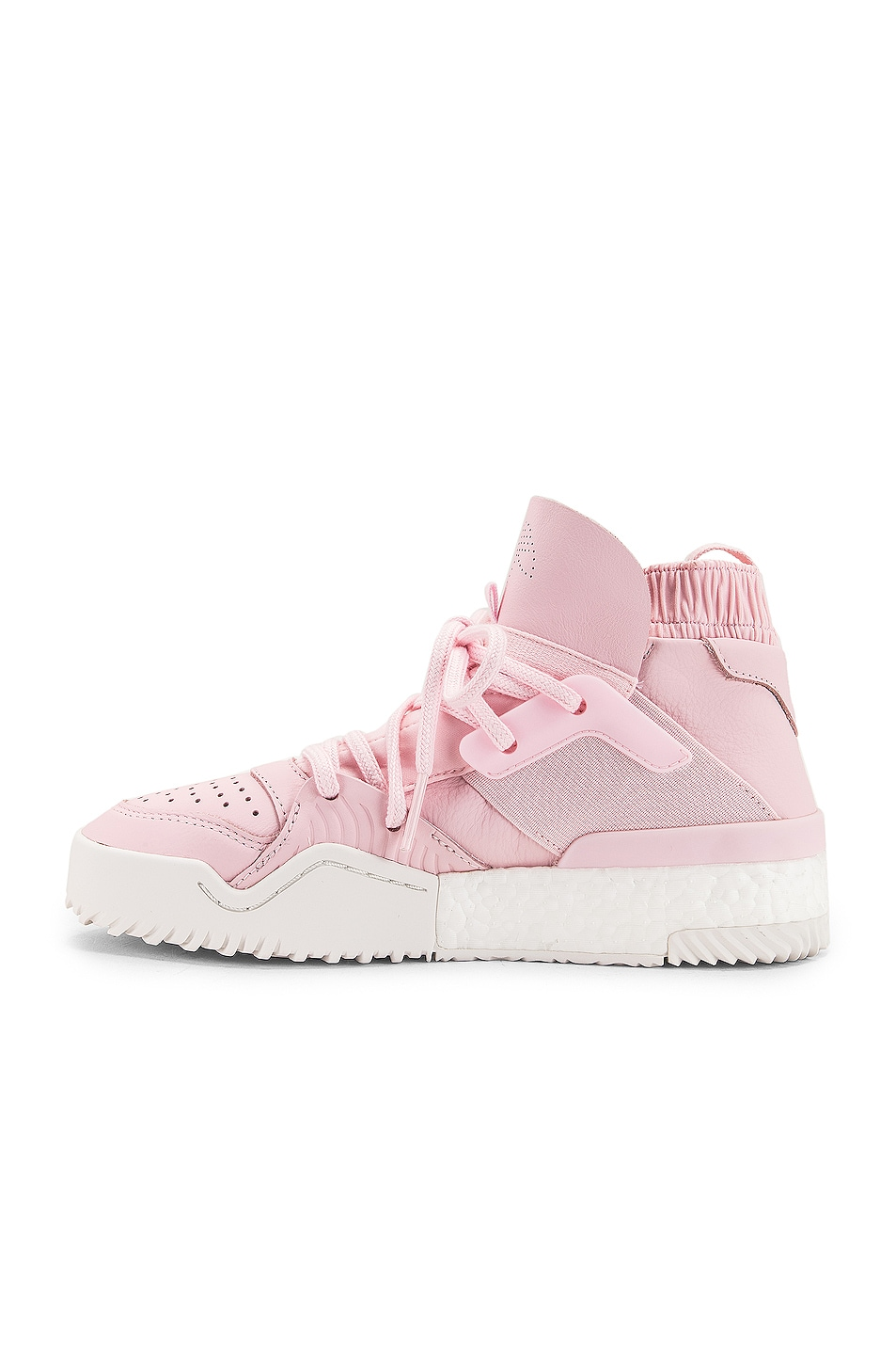 Image 5 of adidas by Alexander Wang B Ball Sneaker in Clear Pink & Core White