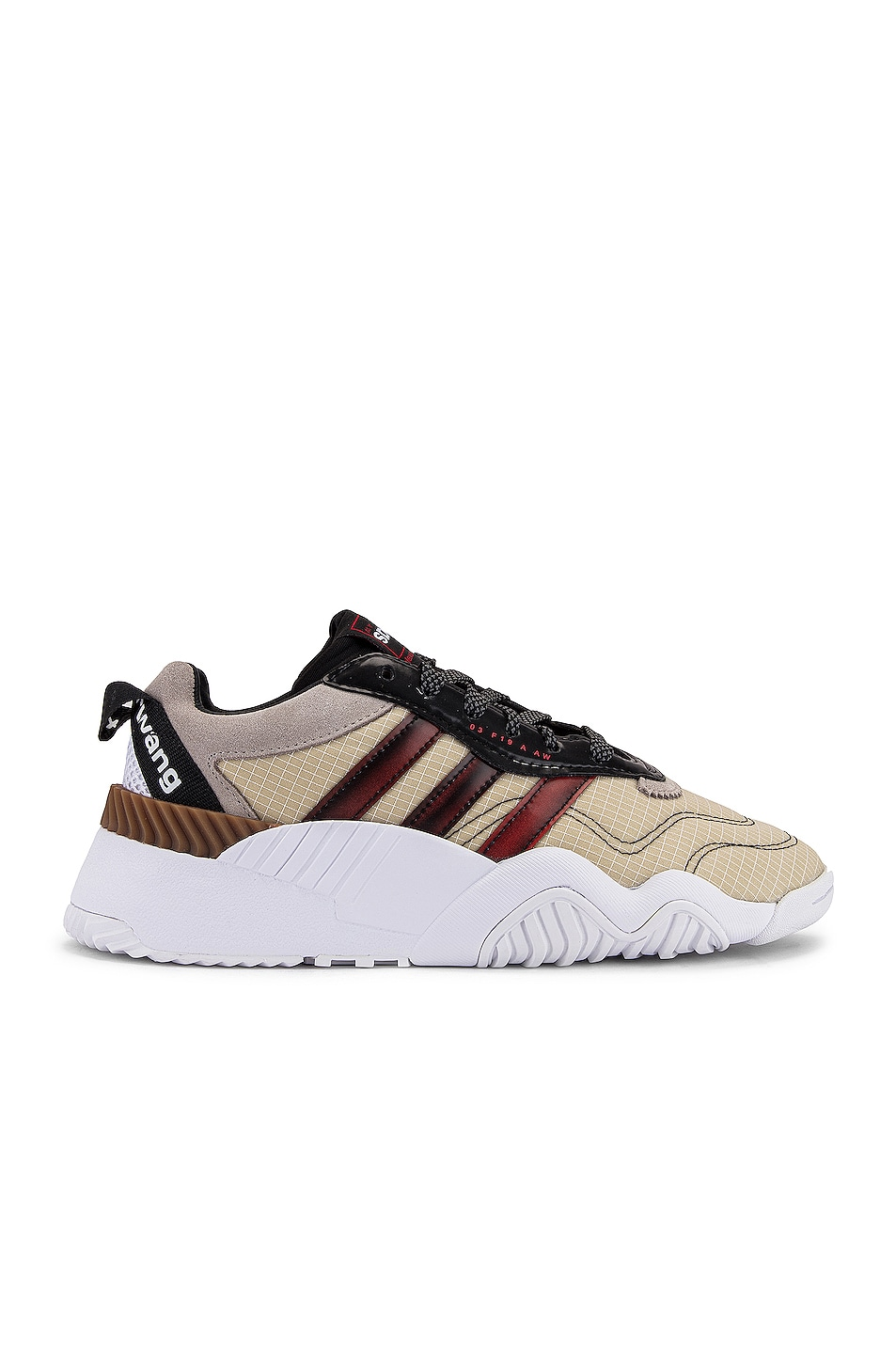 Image 1 of adidas by Alexander Wang V Turnout Trainer Sneaker in Core Black, Light Brown & Bright Red
