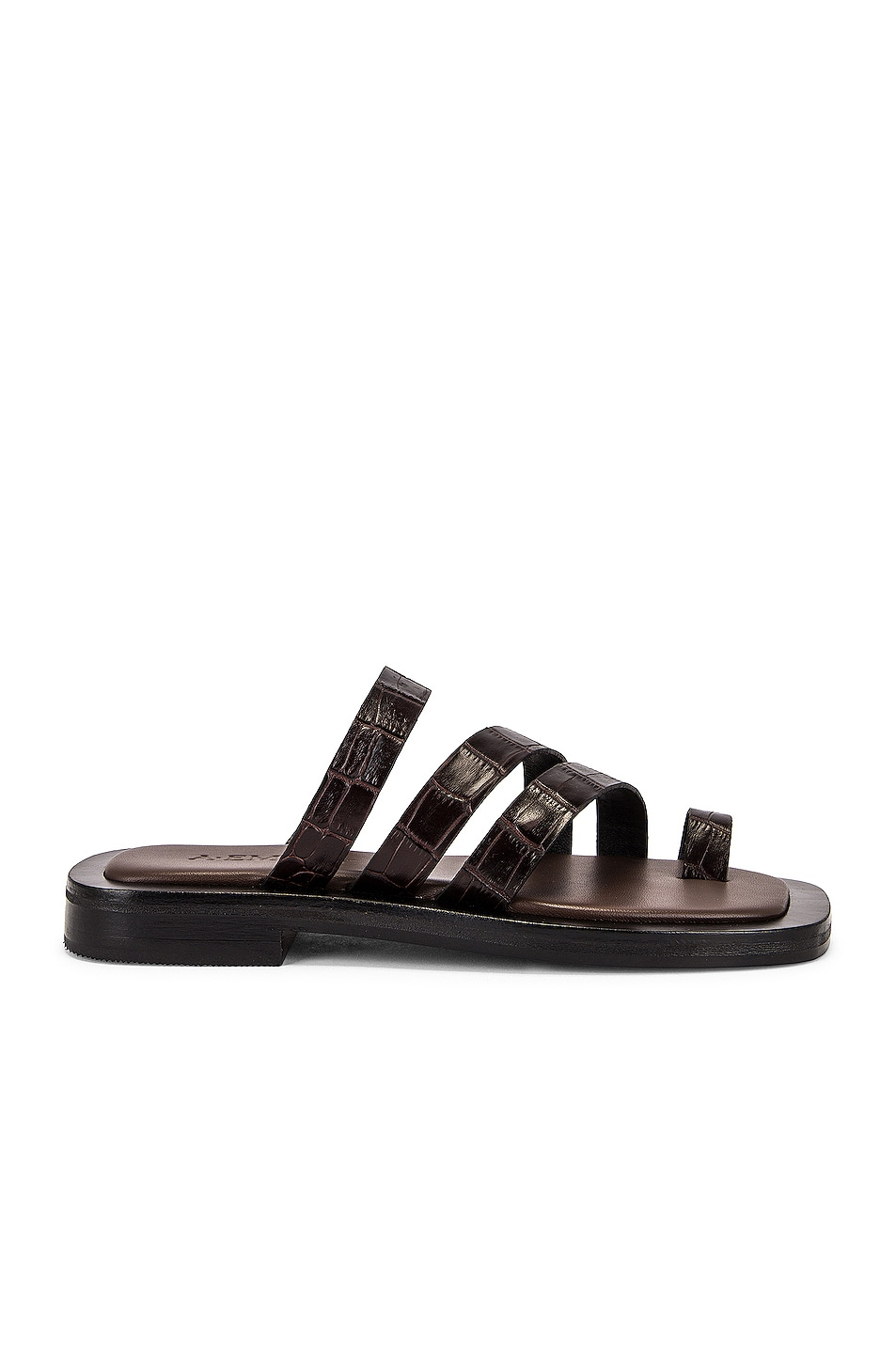 Image 1 of A.EMERY Liam Sandal in Deep Brown Croc