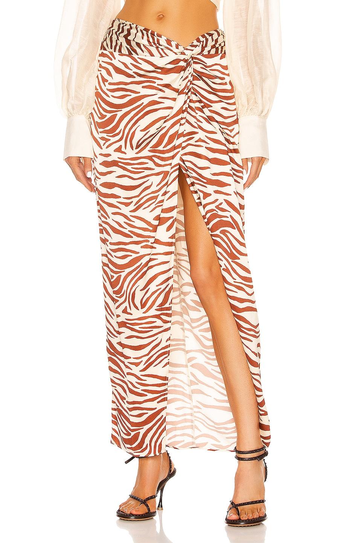Image 1 of Auteur Zebra Pearl Twist Skirt in Zebra