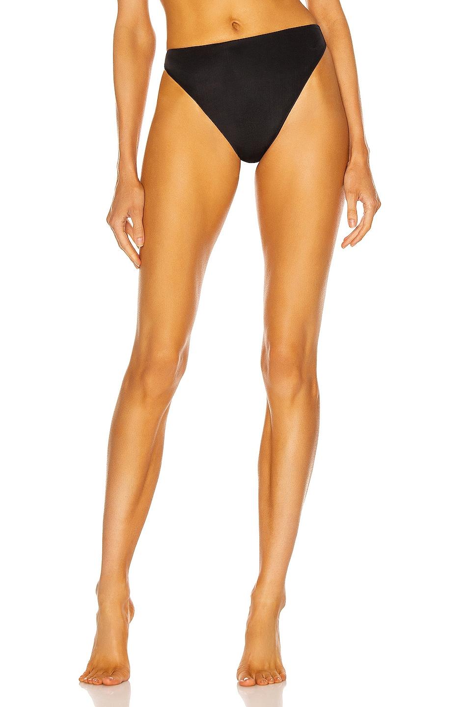 Image 1 of AEXAE Triangle High Cut Bikini Bottom in Black