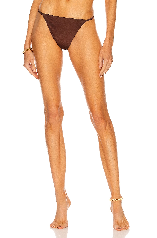 Image 1 of AEXAE Micro G-String Bikini Bottom in Chocolate