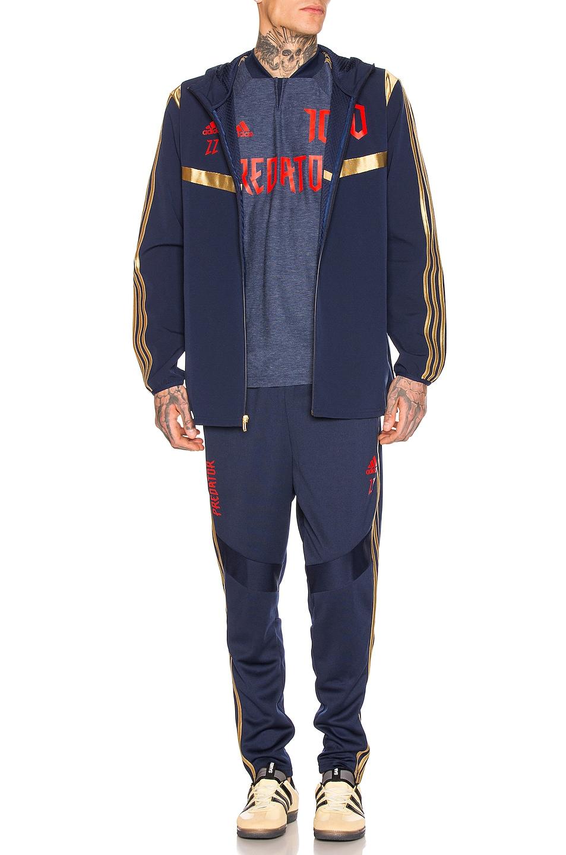 hot sale 2019 adidas Football Predator Zidane Hooded Jacket Navy & Red