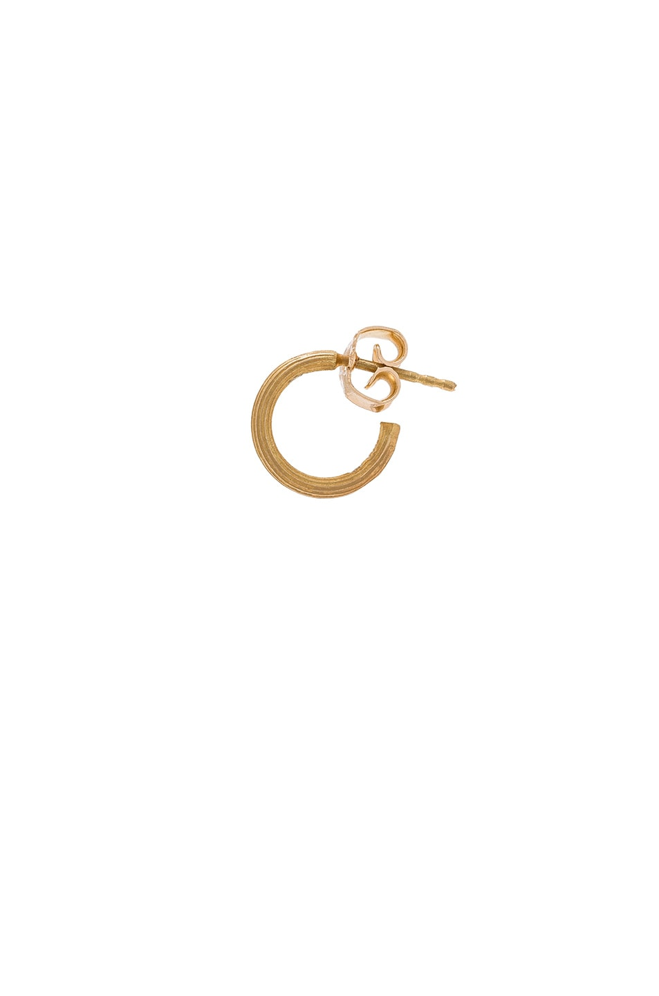 Image 1 of Afin Atelier Small Single Hoop Earring in Gold