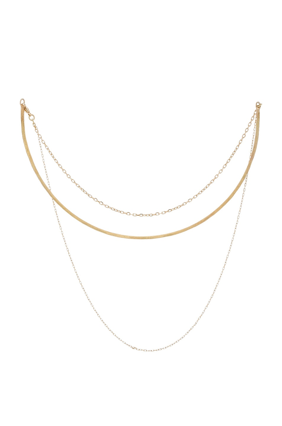 Image 1 of Afin Atelier Choker Necklace in Gold