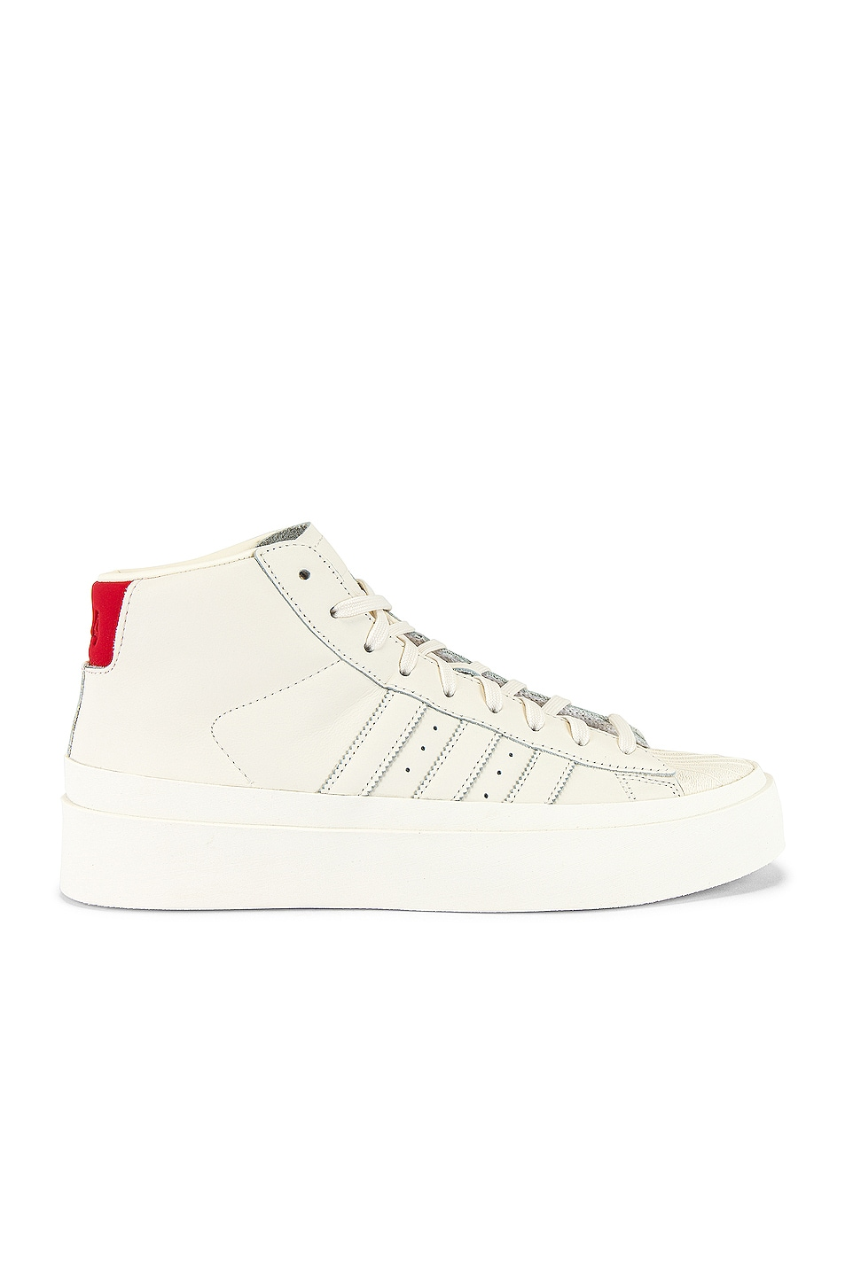 Image 2 of adidas x 424 Pro Model 80S in Chalk White & Chalk White & Chalk White