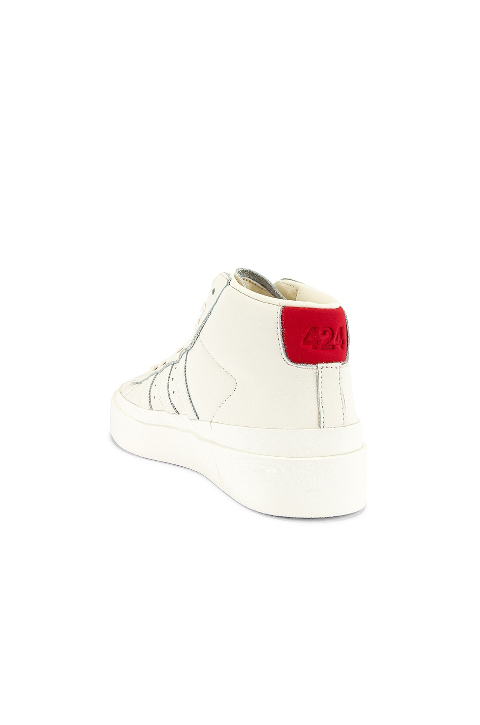 Image 3 of adidas x 424 Pro Model 80S in Chalk White & Chalk White & Chalk White