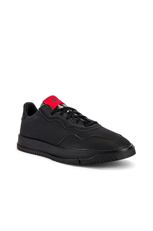 Image 1 of adidas x 424 SC Premier in Black & Black & Scarlet