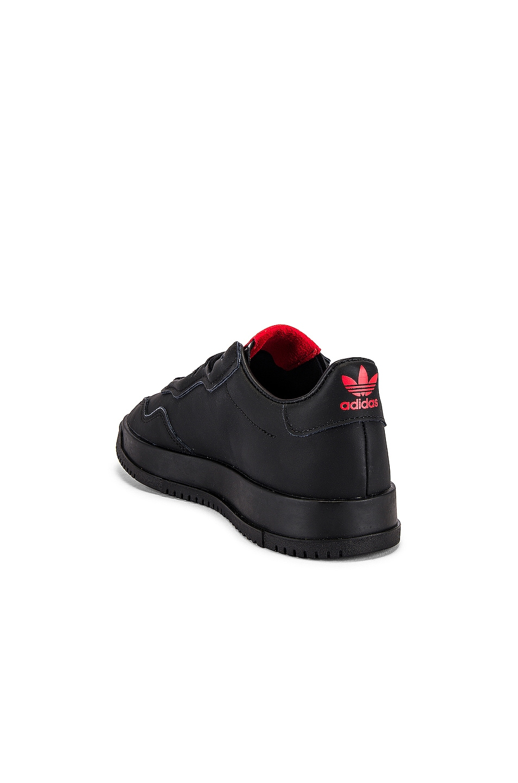 Image 3 of adidas x 424 SC Premier in Black & Black & Scarlet