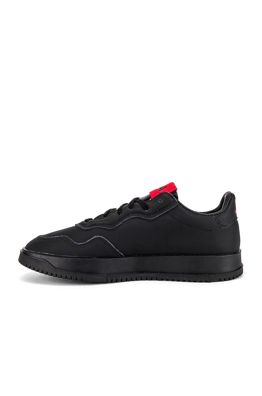 Image 5 of adidas x 424 SC Premier in Black & Black & Scarlet
