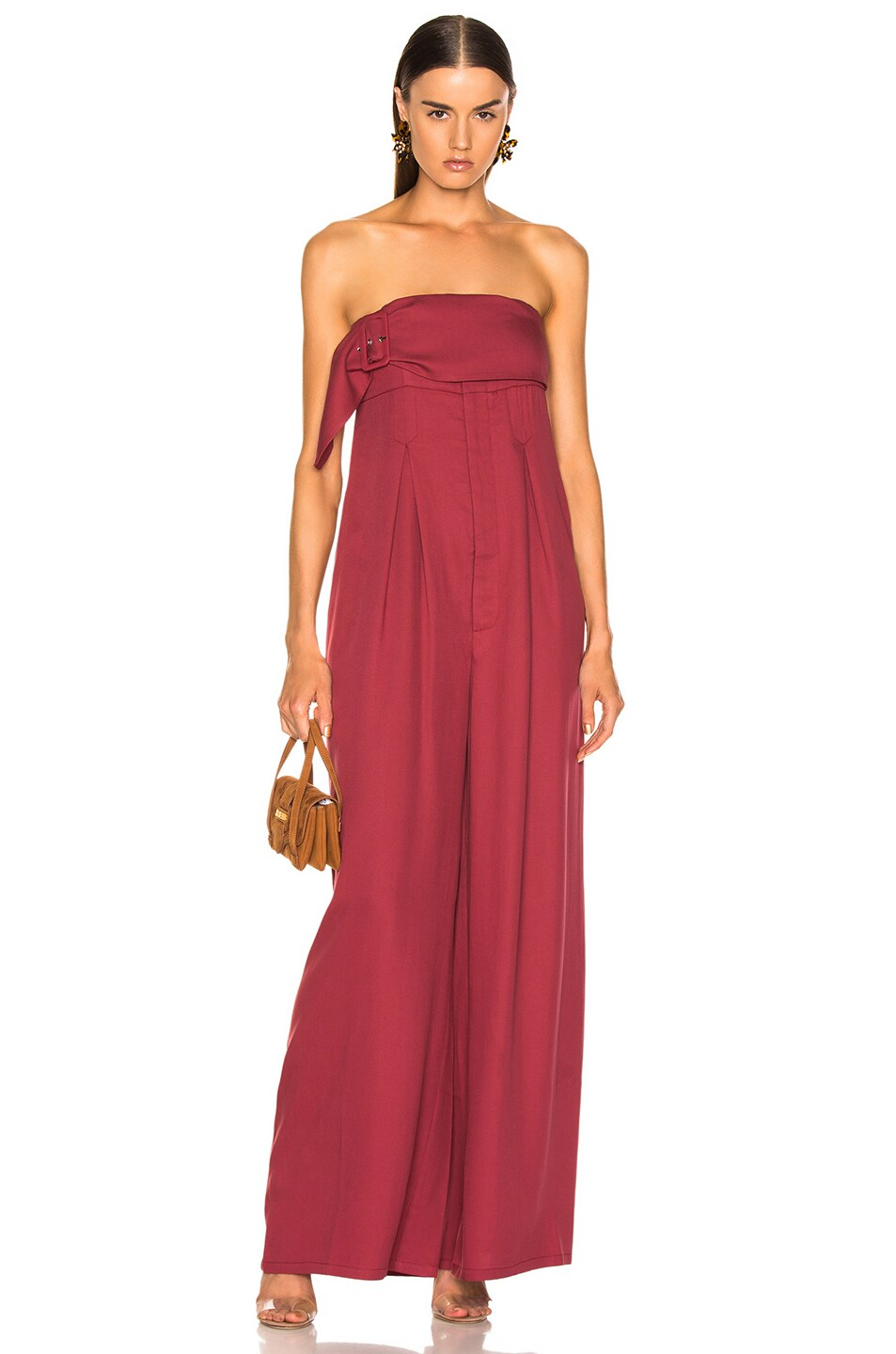 Image 1 of Atoir Save This Heart Jumpsuit in Cranberry