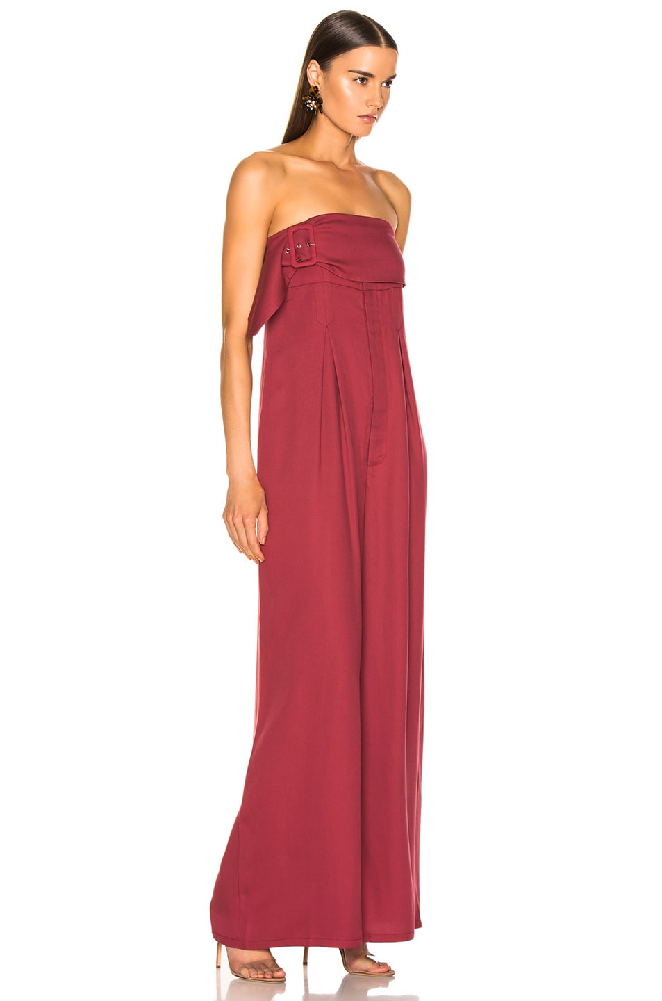 Image 2 of Atoir Save This Heart Jumpsuit in Cranberry