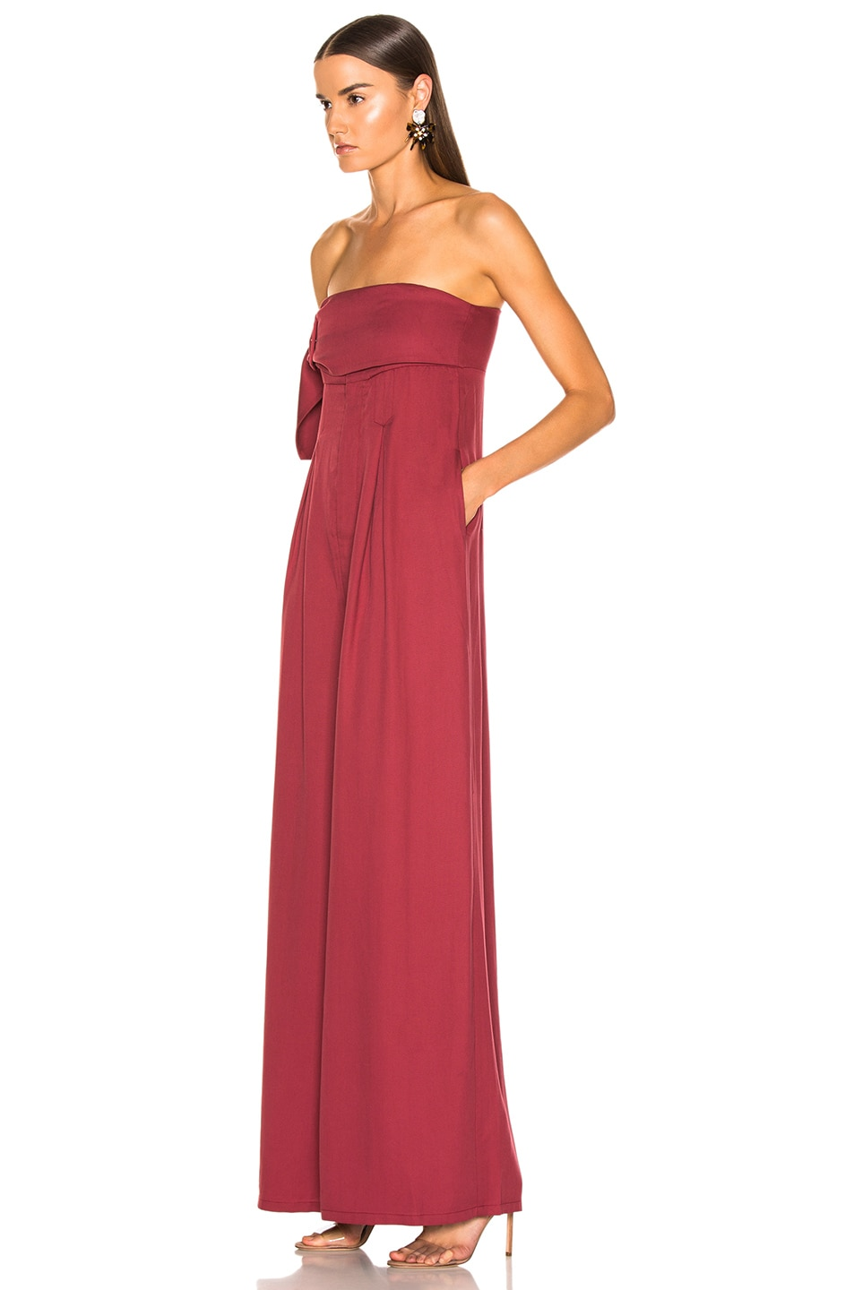 Image 3 of Atoir Save This Heart Jumpsuit in Cranberry