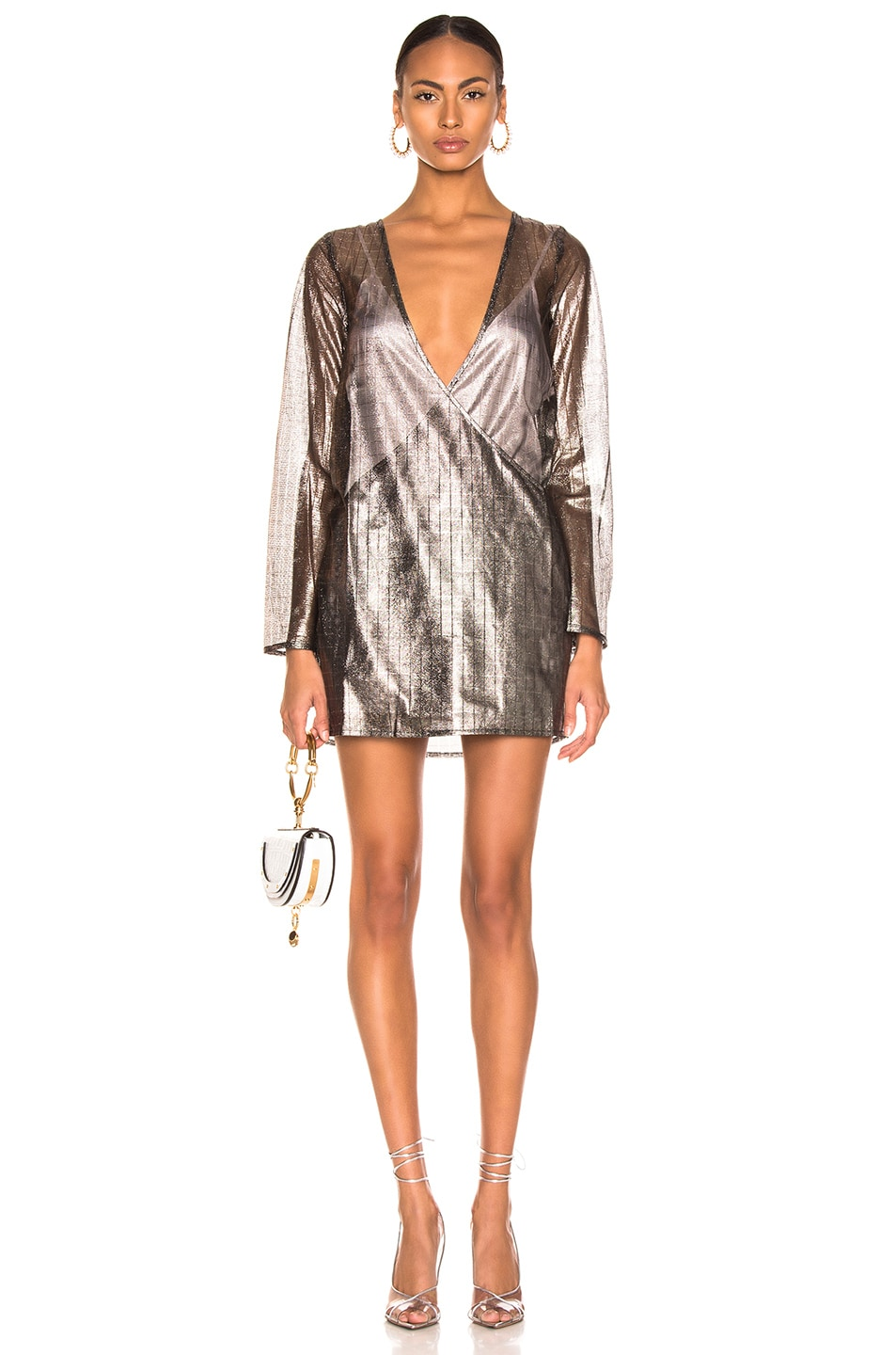 Image 1 of Atoir for FWRD One Of These Nights Dress in Metallic Pewter