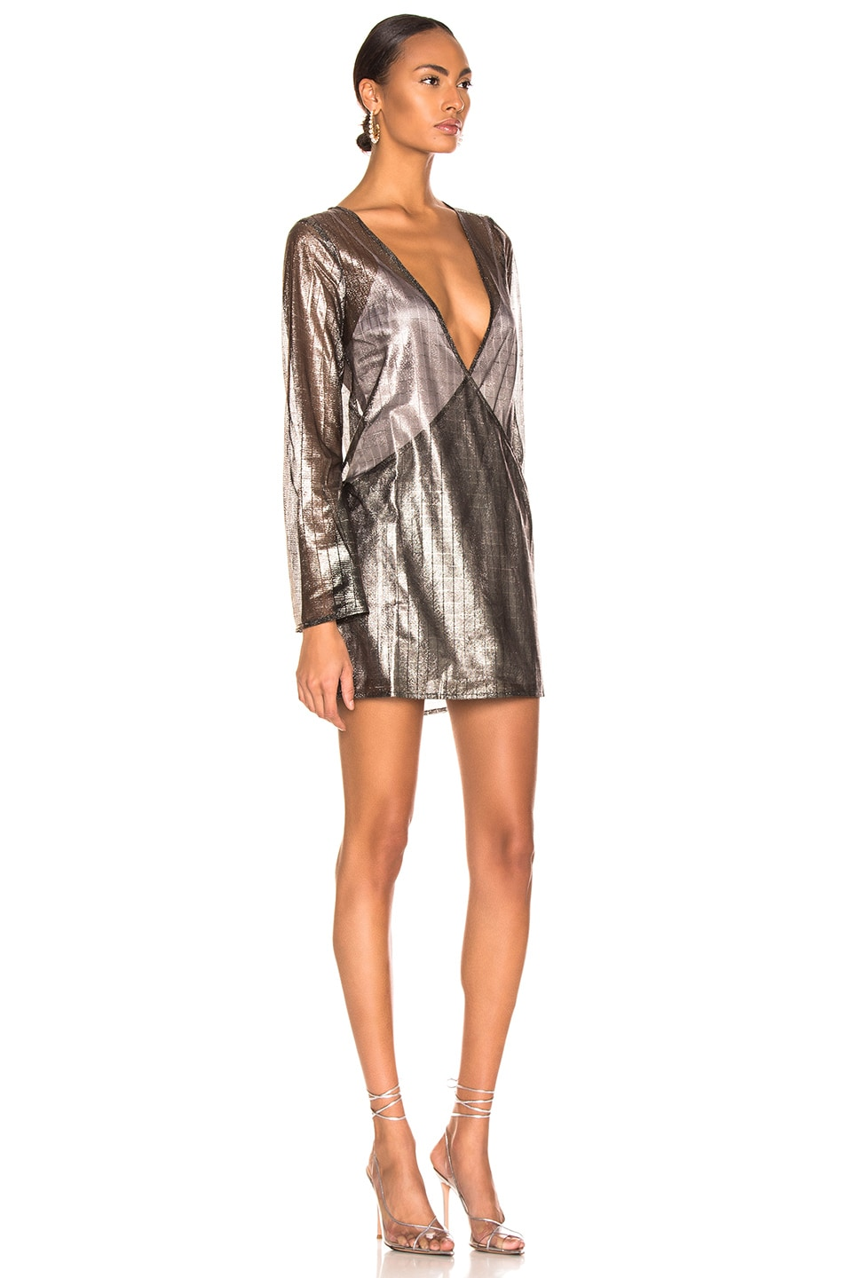 Image 2 of Atoir for FWRD One Of These Nights Dress in Metallic Pewter