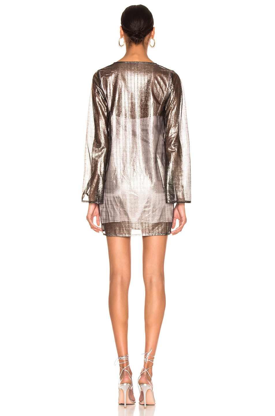 Image 3 of Atoir for FWRD One Of These Nights Dress in Metallic Pewter