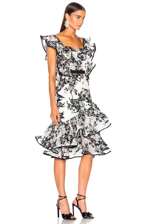 56e084c762c5 Image 3 of Atoir Unforgettable Minds Dress in Black & White Floral
