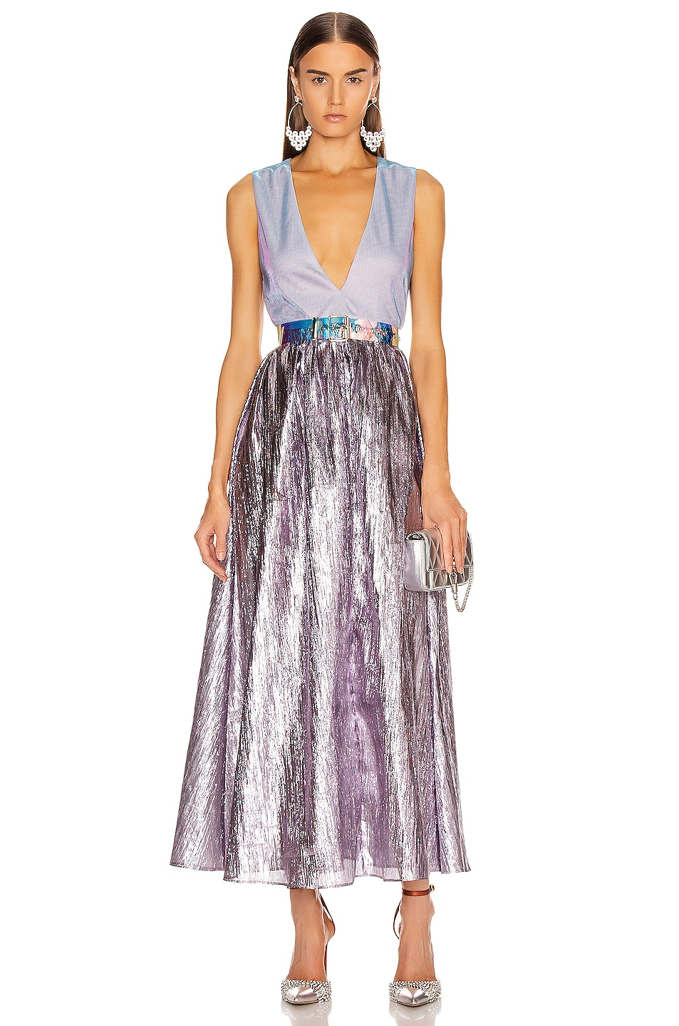 Image 1 of Atoir Kind of Bliss Dress in Lilac & Purple