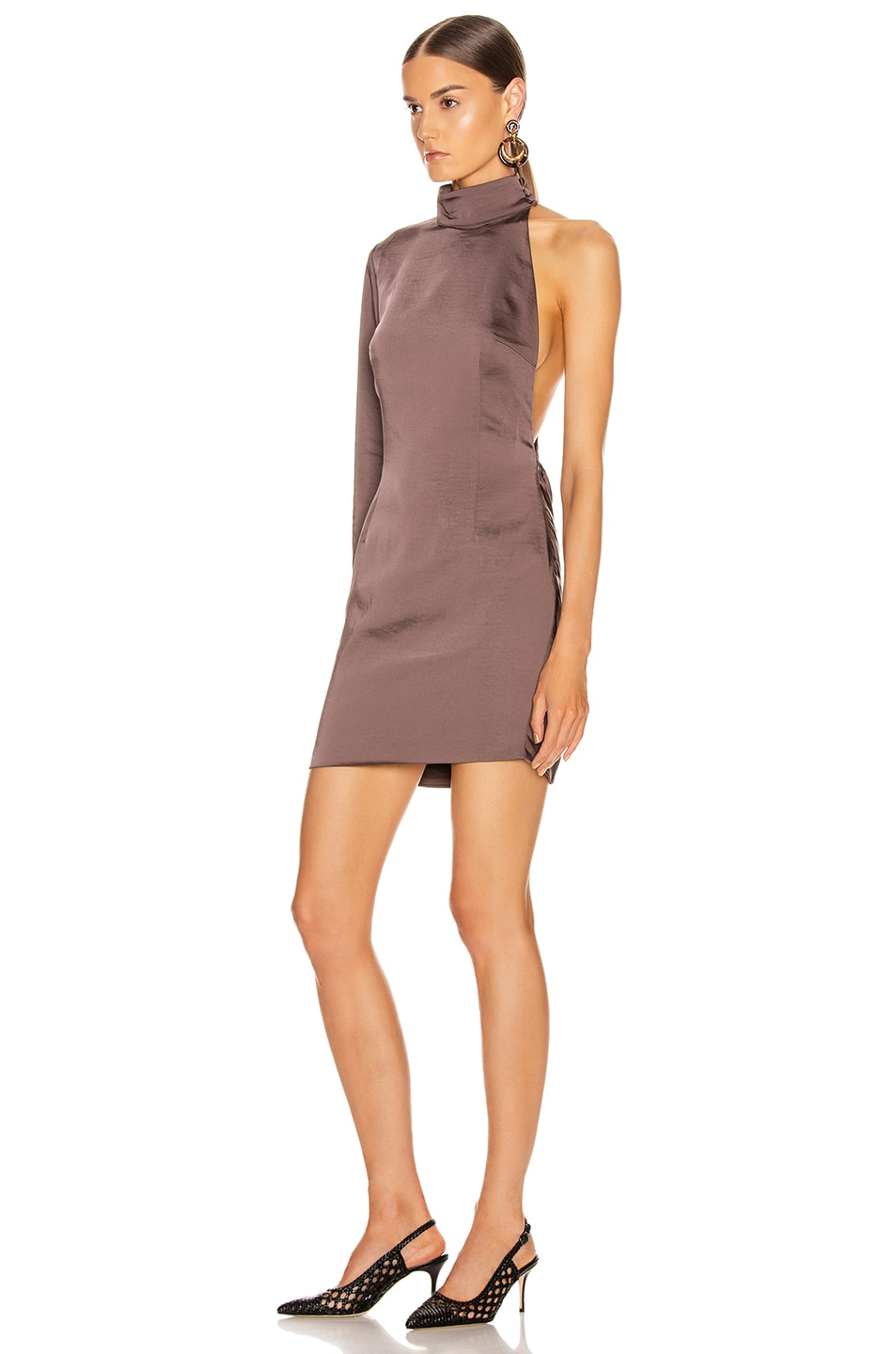 Image 3 of Atoir Negative Spaces Dress in Chocolate