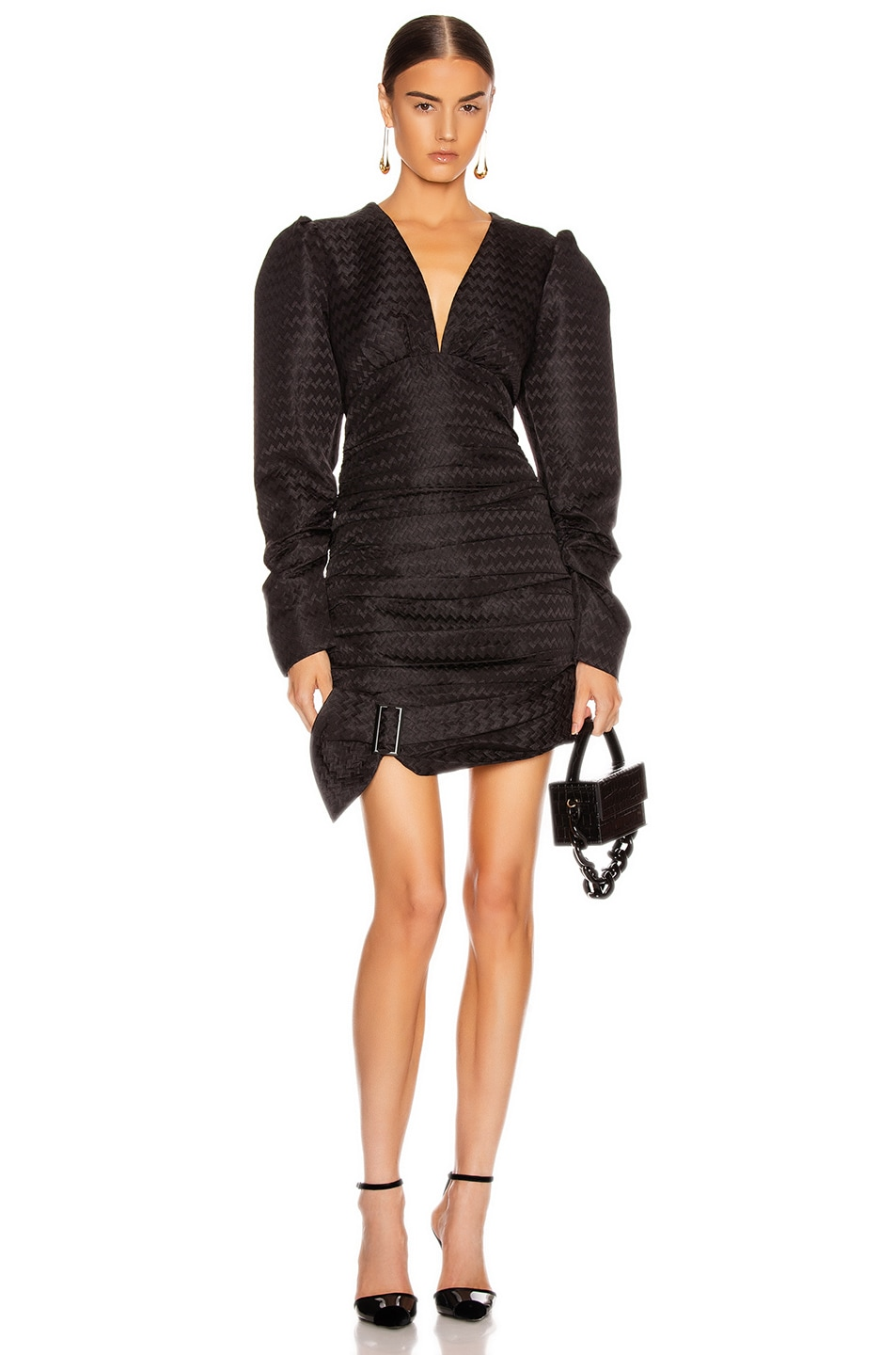 Image 1 of Atoir Was Loved Dress in Embossed Black