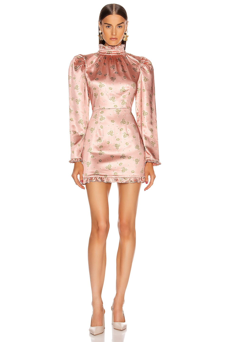 Image 1 of Atoir What's On Your Mind Dress in Peach Botanical
