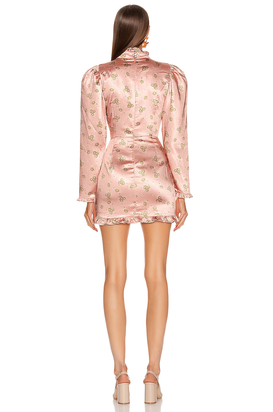Image 3 of Atoir What's On Your Mind Dress in Peach Botanical