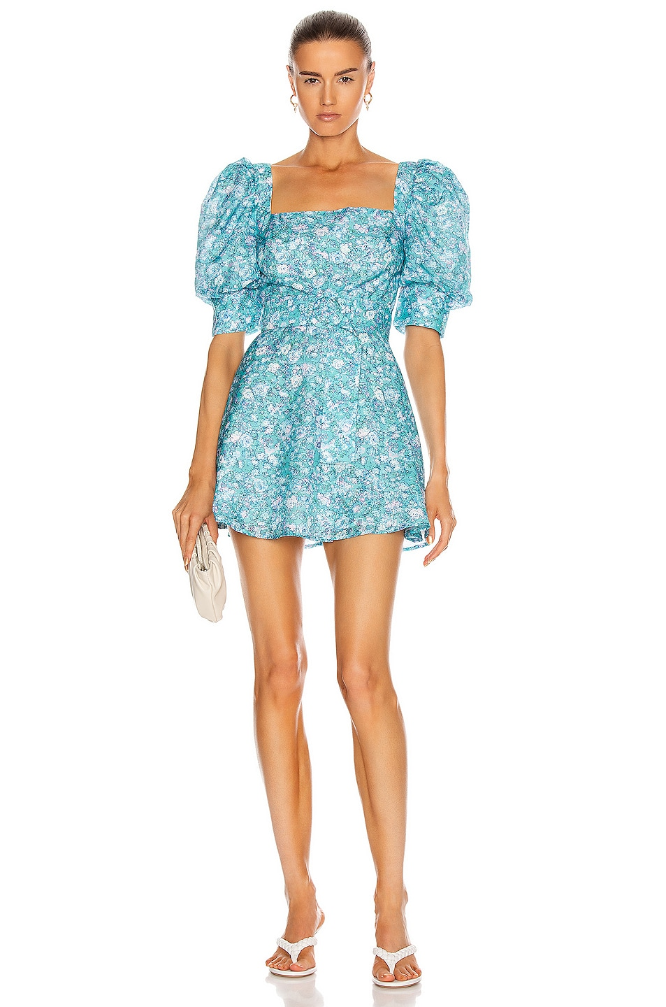 Image 1 of Atoir for FWRD Say Something Dress in Jade Floral