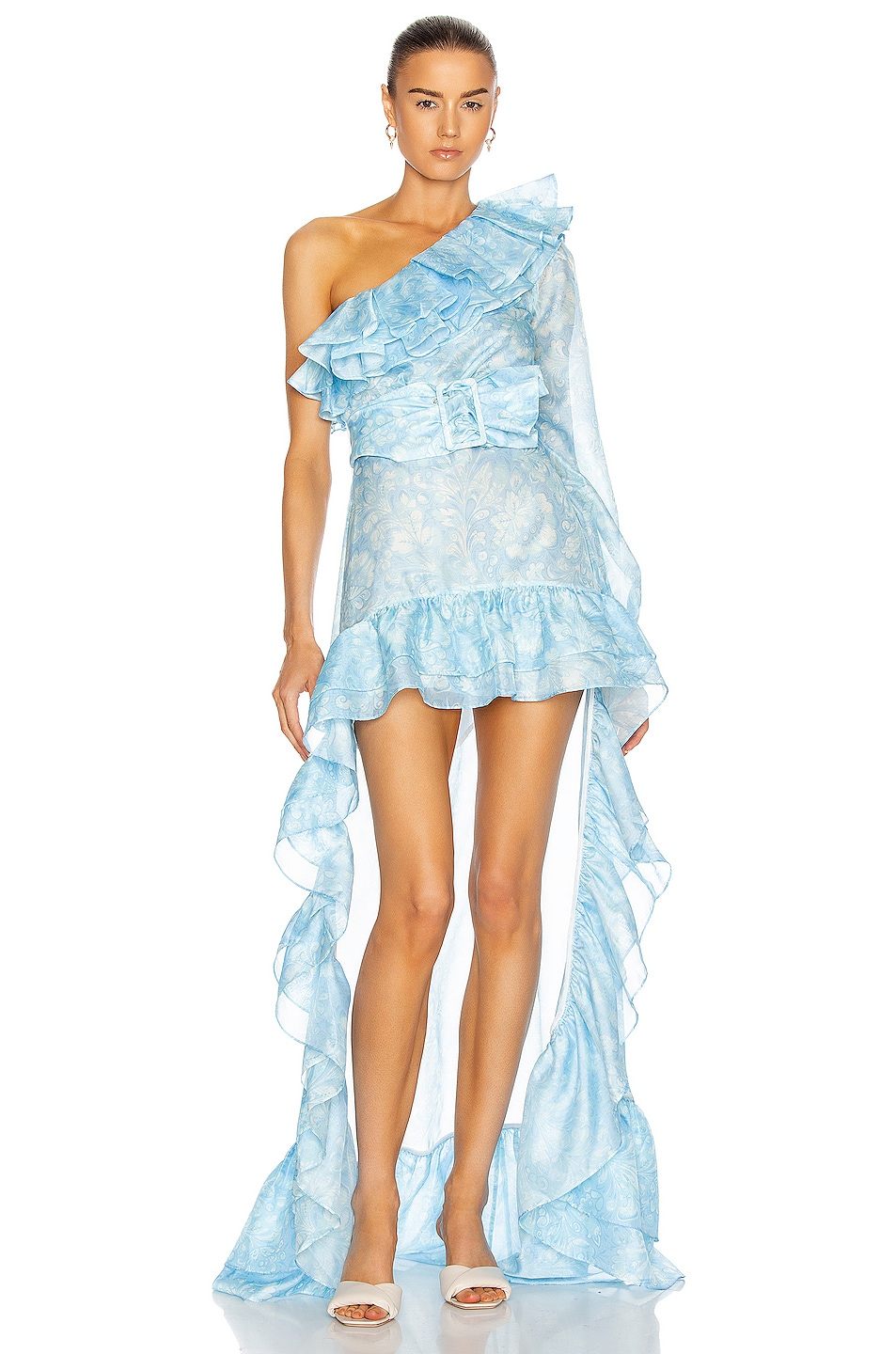 Image 1 of Atoir for FWRD The Whirlwind Dress in Ocean Paisley