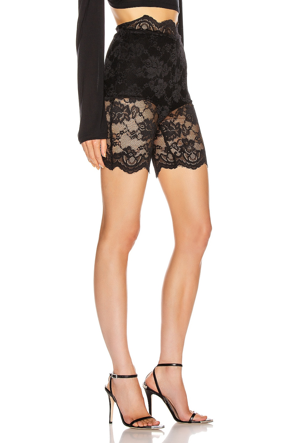 Image 2 of Atoir Only One Shorts in Black Lace