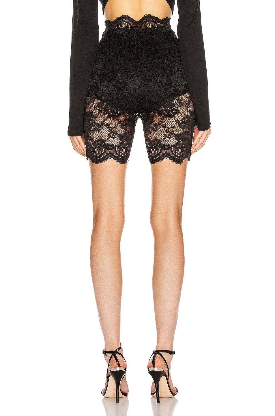 Image 3 of Atoir Only One Shorts in Black Lace