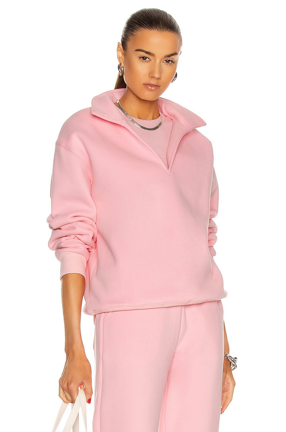 Image 1 of Atoir Collared Jumper in Soft Pink