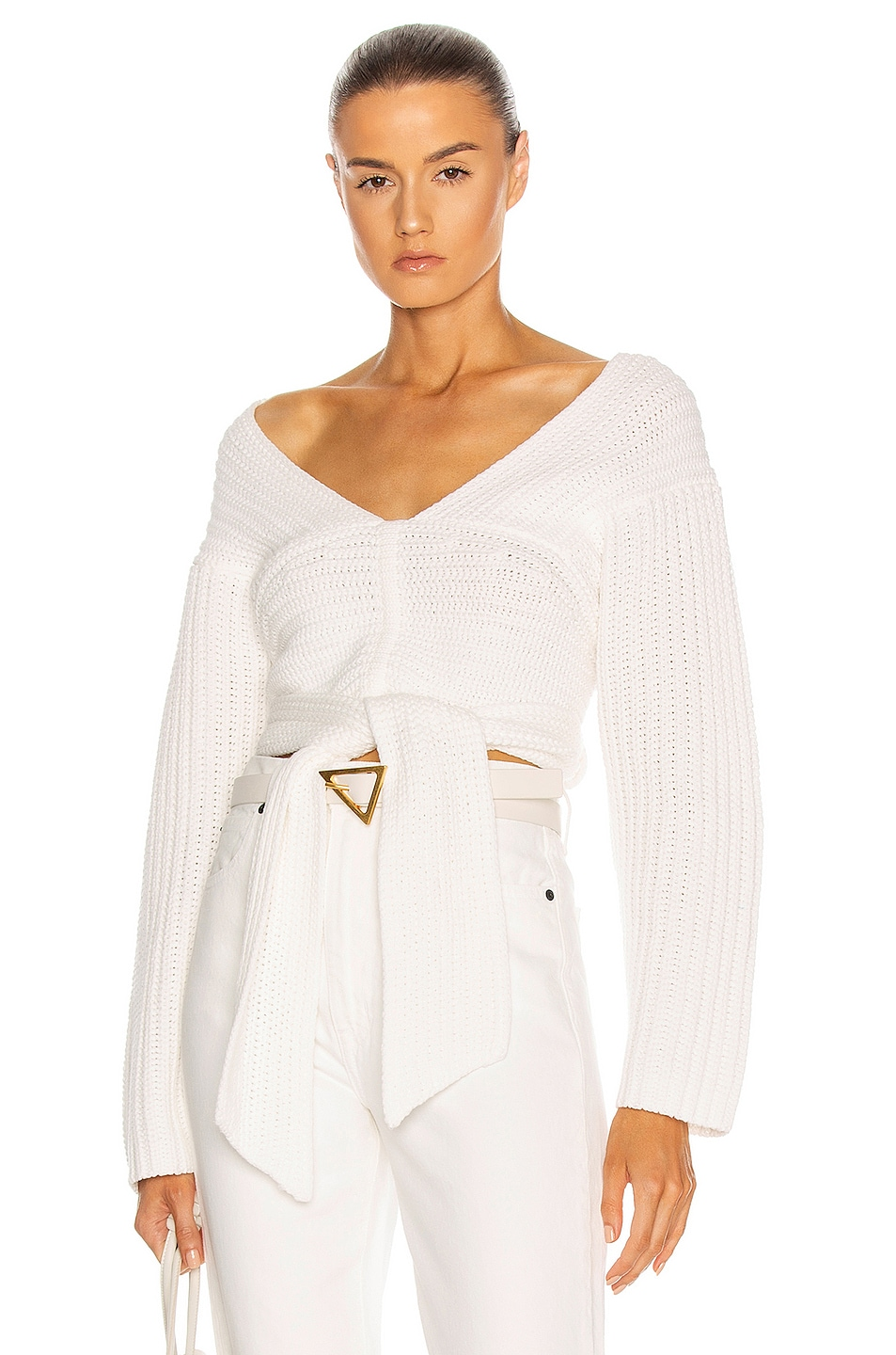 Image 1 of Atoir Perfect Game Knit Sweater in White