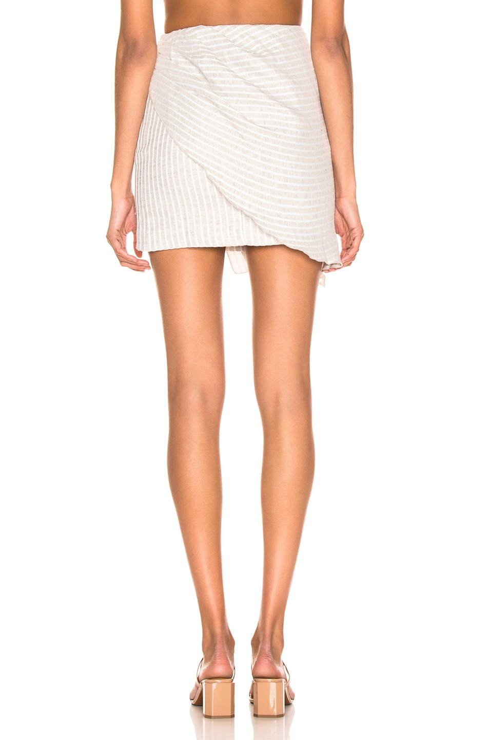 Image 4 of Atoir Be With You Skirt in Grey & White Stripe