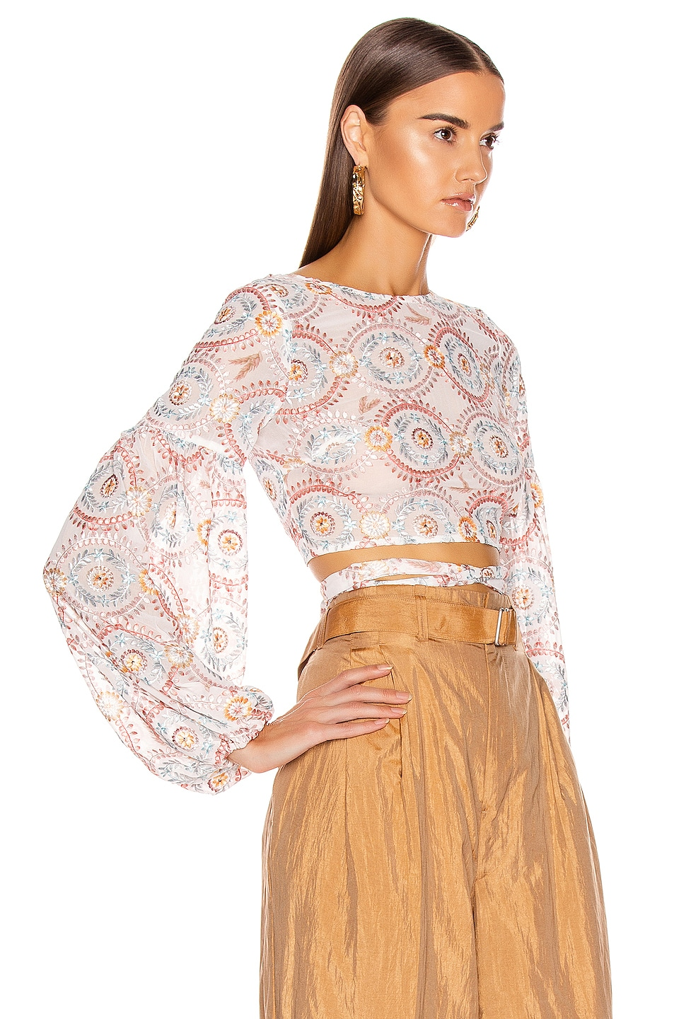 Image 2 of Atoir Love Sick Crop Top in Sunset Embroidery