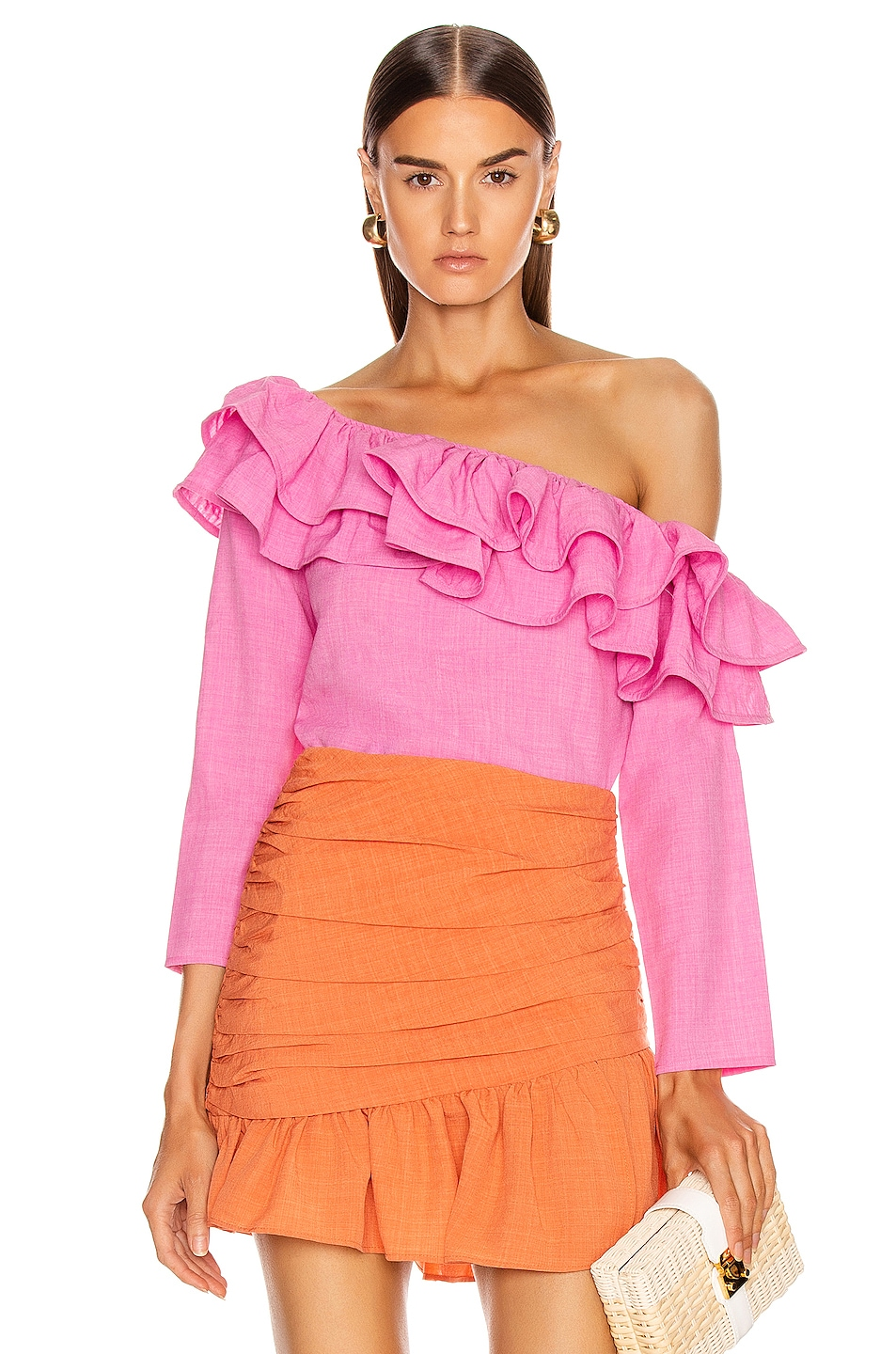 Image 1 of Atoir Not Going Back Top in Fuchsia Pink
