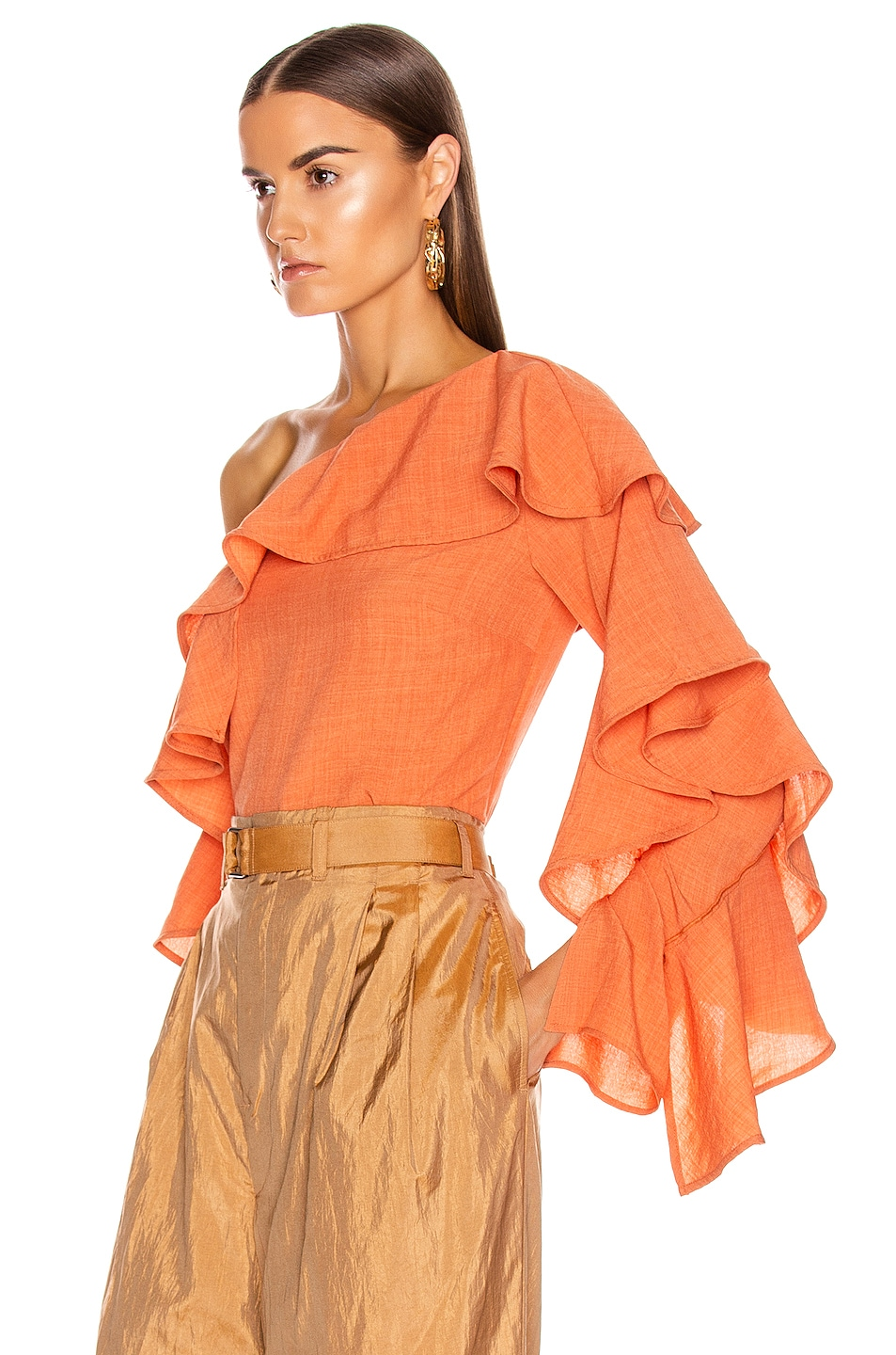 Image 3 of Atoir Give A Little Top in Sunset Orange