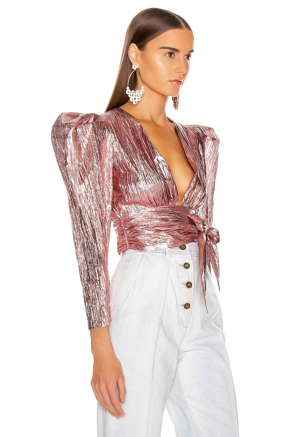 Image 2 of Atoir Close Call Crop Top in Orchid Pink
