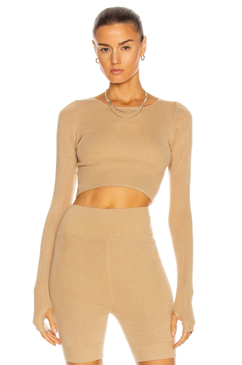 Image 1 of Atoir The Noah Knit Top in Sepia