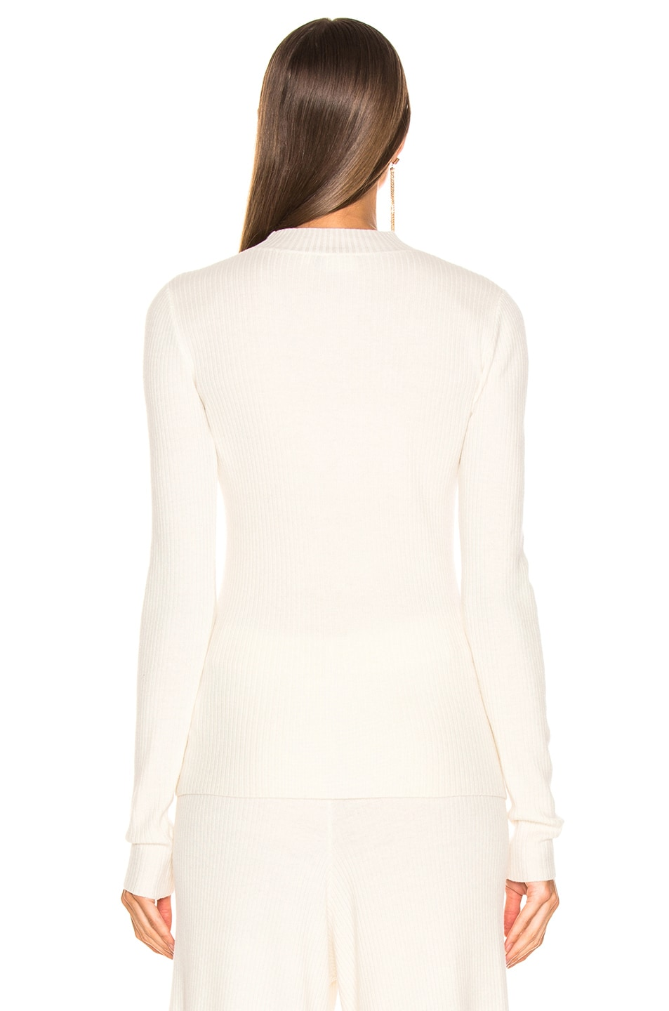 Image 3 of AG Adriano Goldschmied Quinton Mock Neck Knit in Ivory Dust