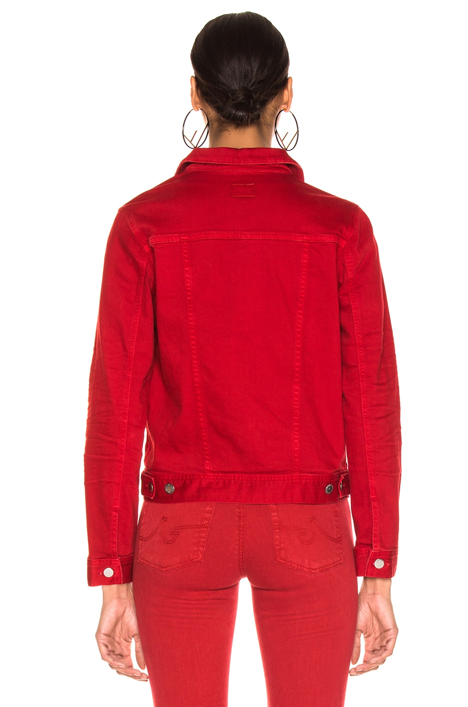 Image 3 of AG Adriano Goldschmied Mya Jacket in 1 Year Hi White Clever Red