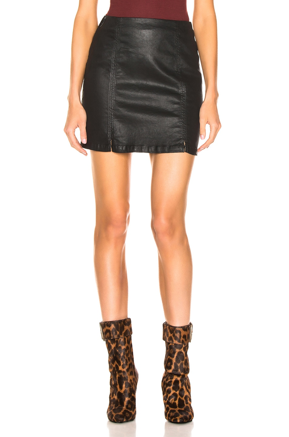 Image 1 of AG Adriano Goldschmied Adaline Skirt in Super Black