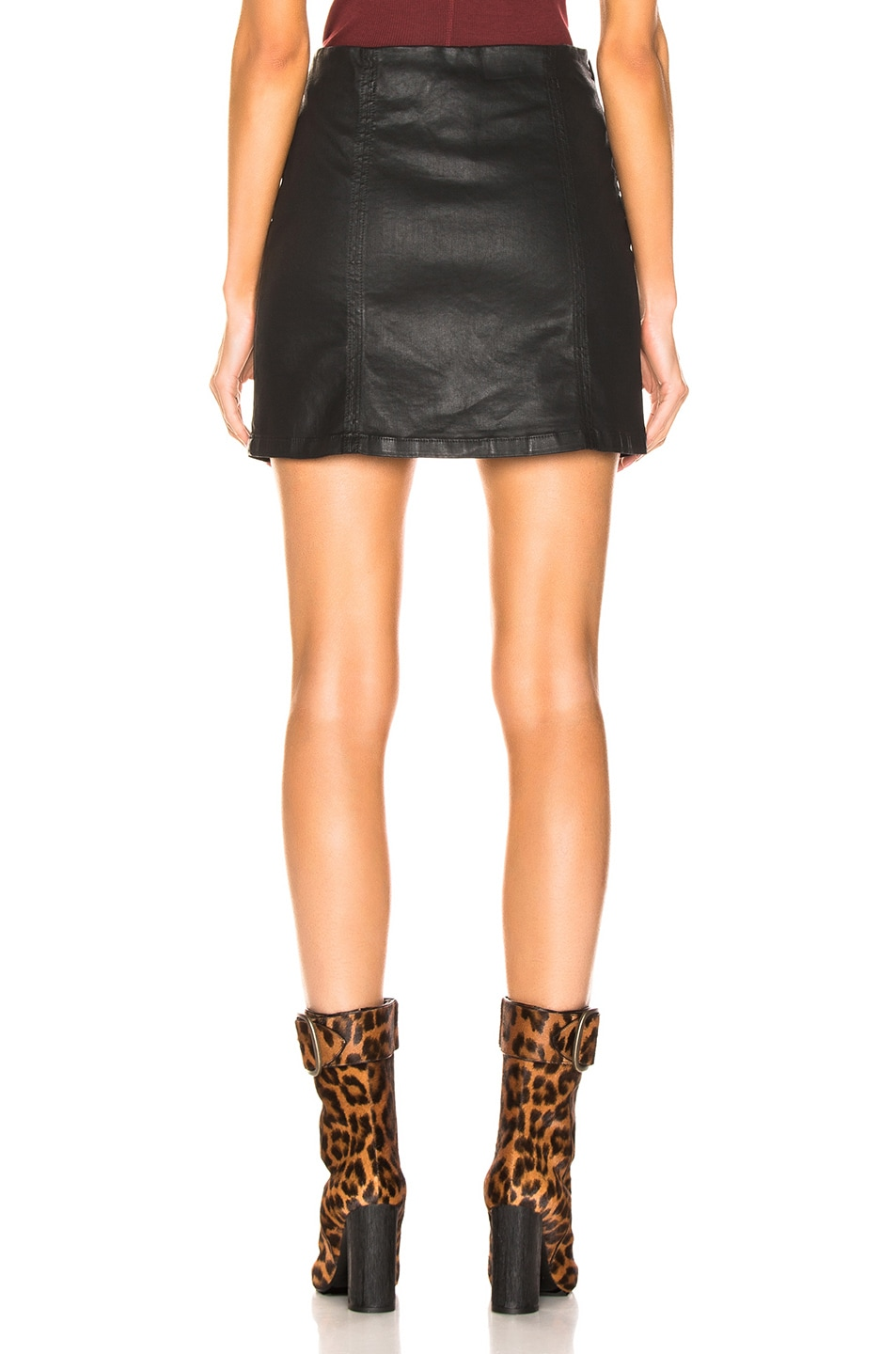 Image 3 of AG Adriano Goldschmied Adaline Skirt in Super Black