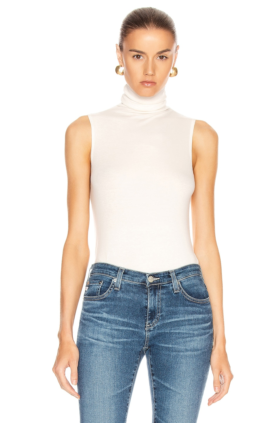 Image 1 of AG Adriano Goldschmied Sleeveless Chel Top in Ivory Dust
