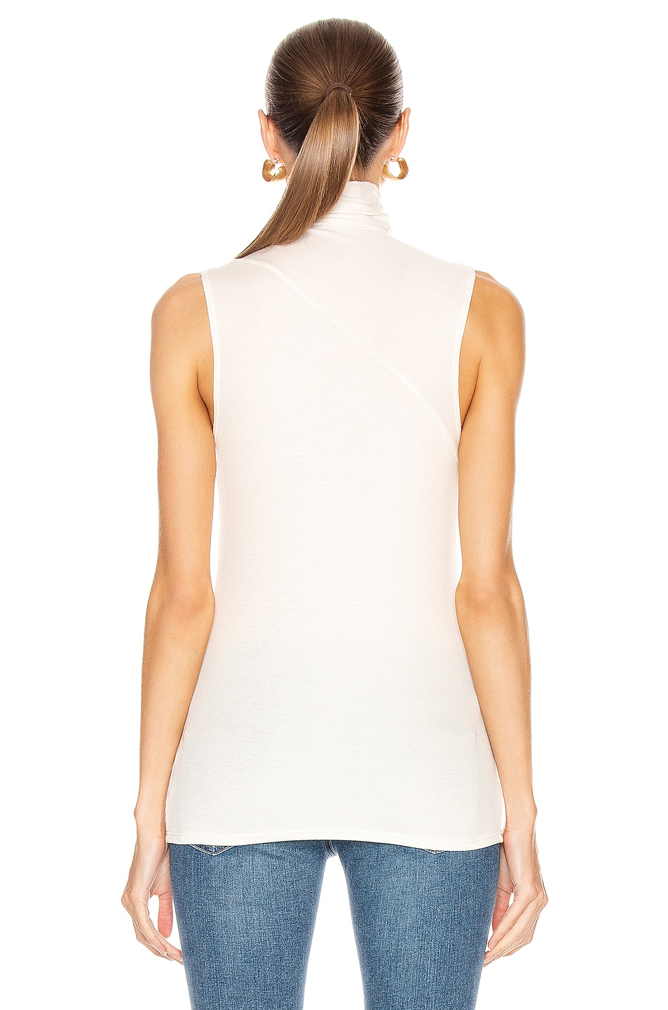 Image 3 of AG Adriano Goldschmied Sleeveless Chel Top in Ivory Dust