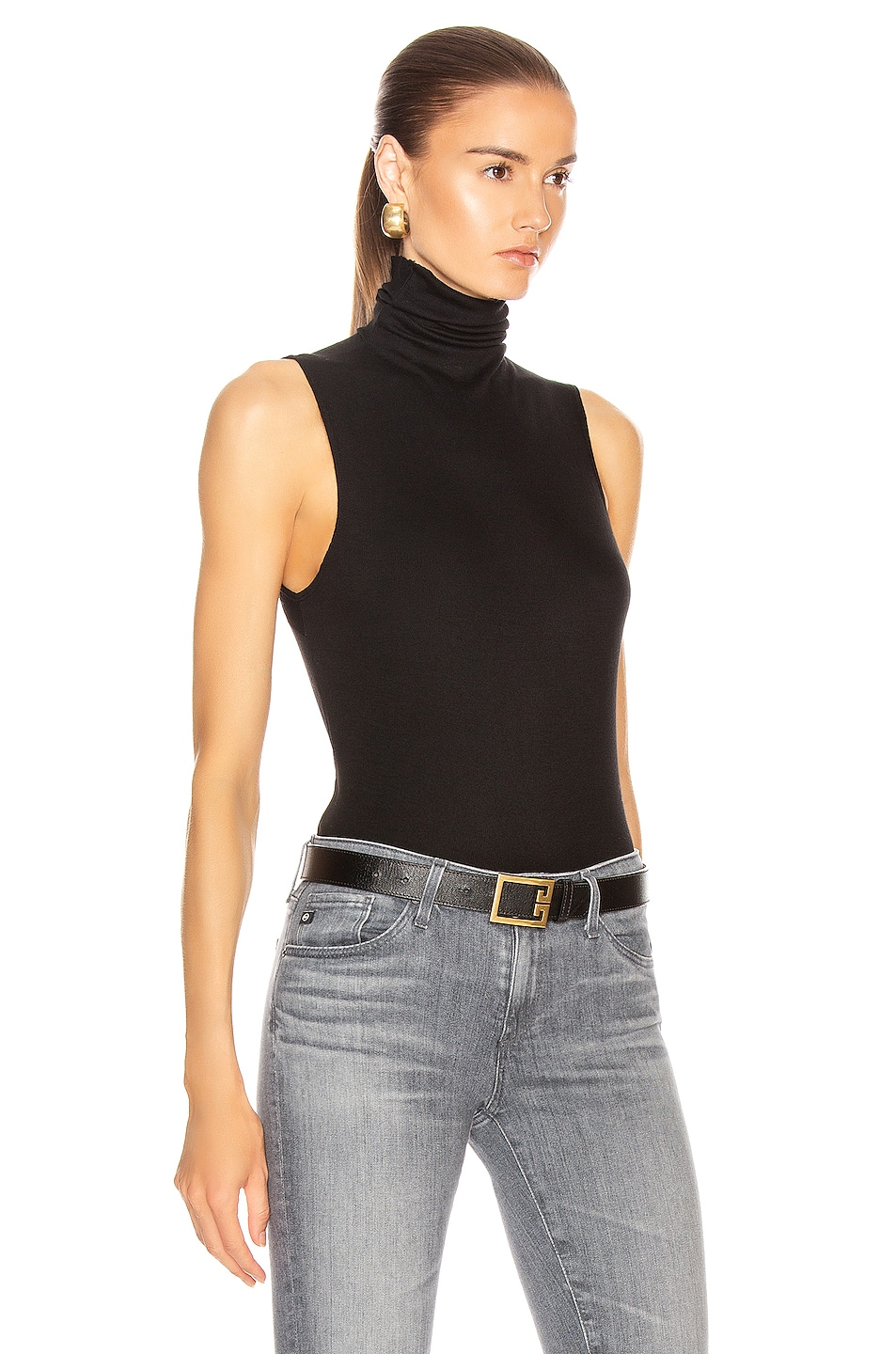 Image 2 of AG Adriano Goldschmied Sleeveless Chel Top in True Black