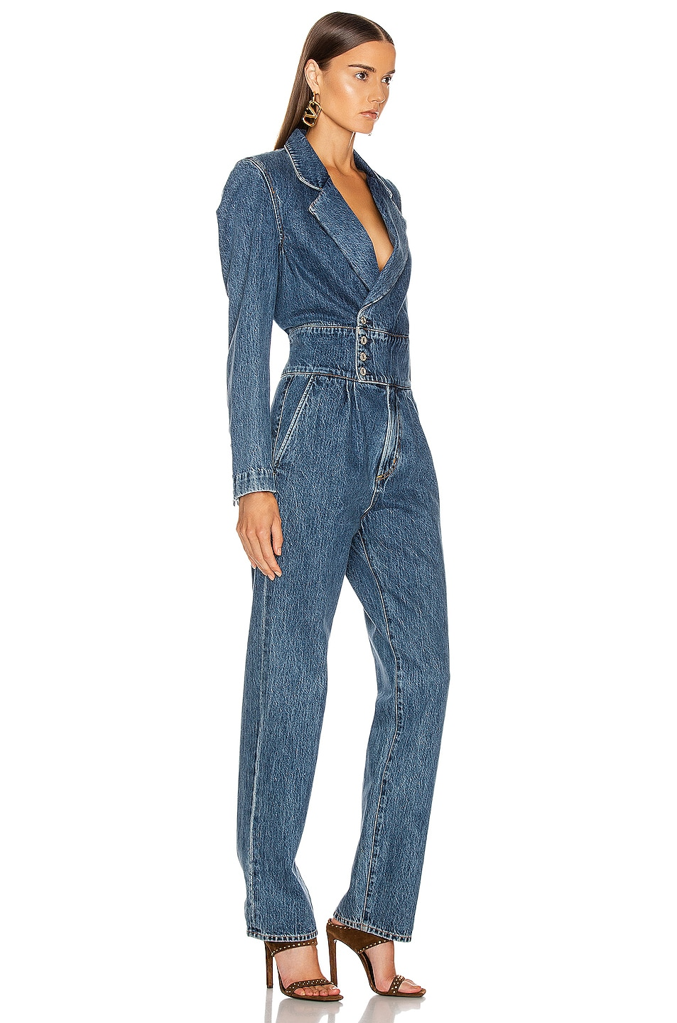Image 2 of AGOLDE Luca Blazer Jumpsuit in Media