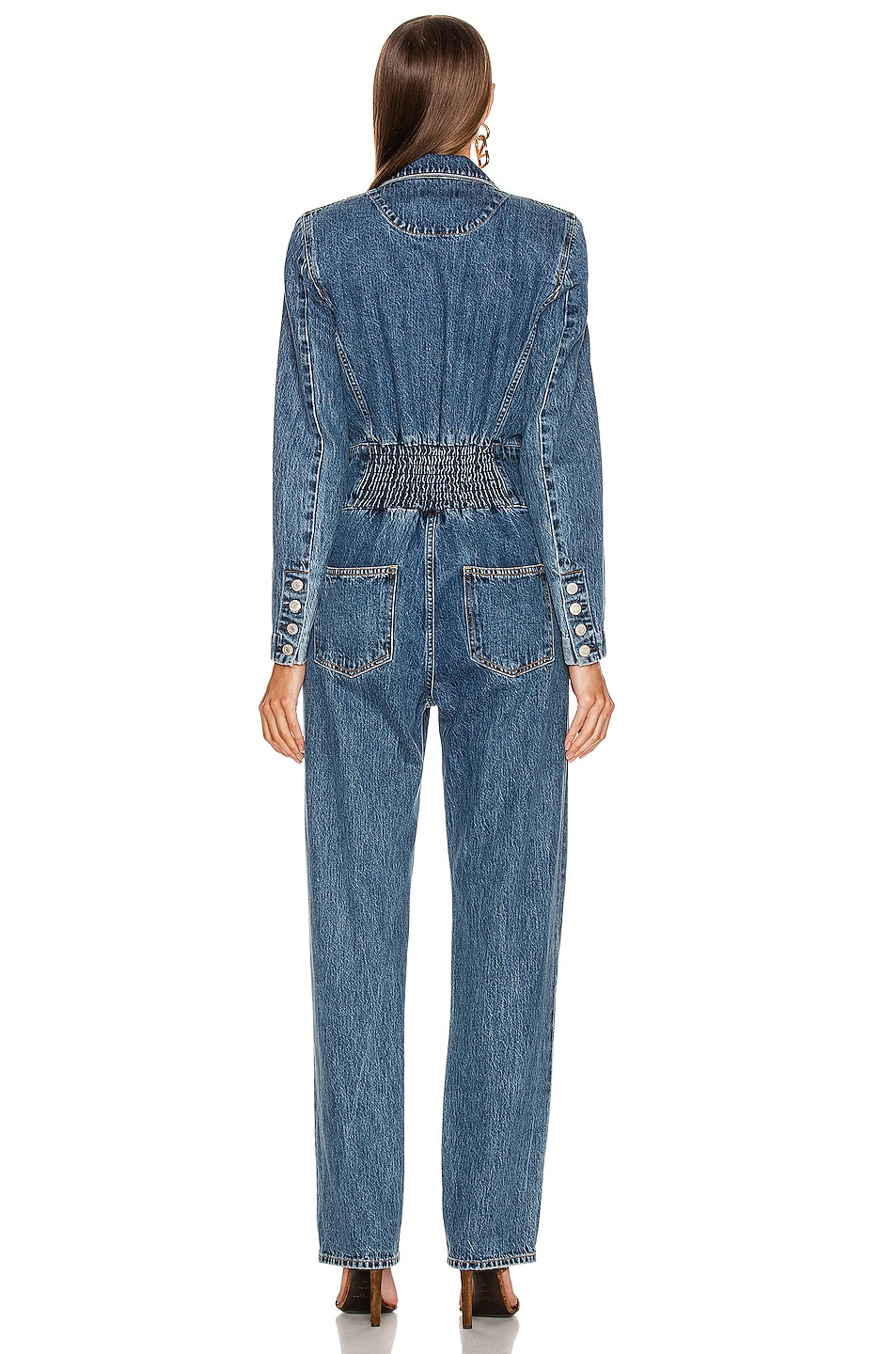 Image 3 of AGOLDE Luca Blazer Jumpsuit in Media