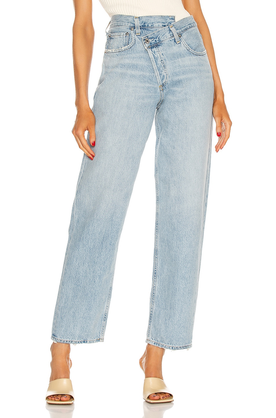 Image 1 of AGOLDE Criss Cross Upsized Jean in Suburbia
